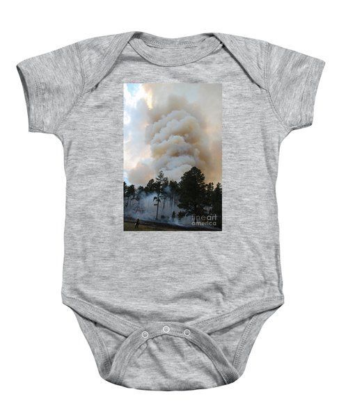 Burnout Near Song Dog Road Baby Onesie
