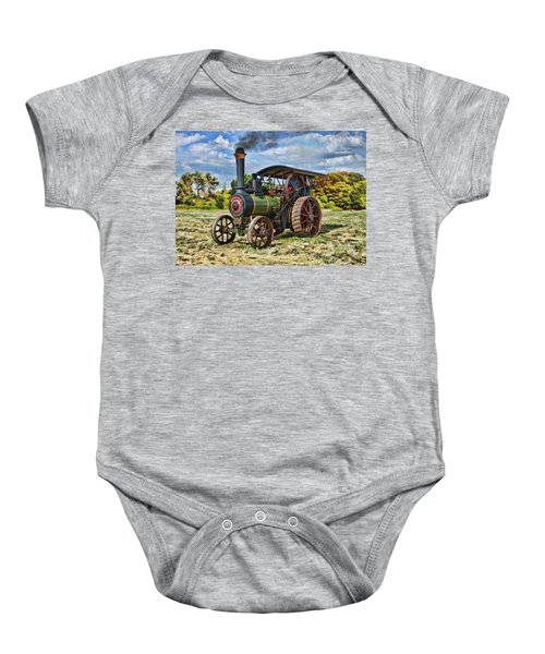 Burrell Steam Engine  Baby Onesie