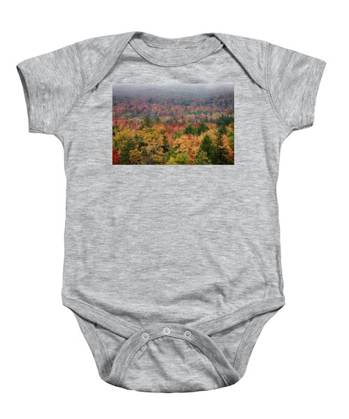 Cabin In Vermont Fall Colors Baby Onesie