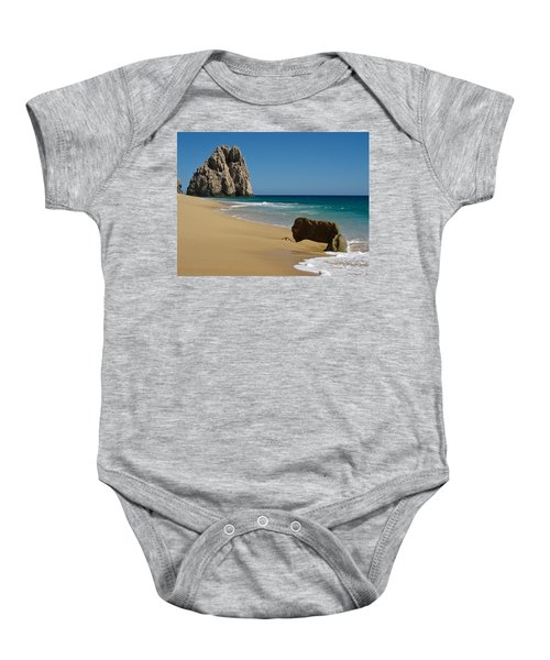 Baby Onesie featuring the photograph Cabo San Lucas Beach 1 by Shane Kelly