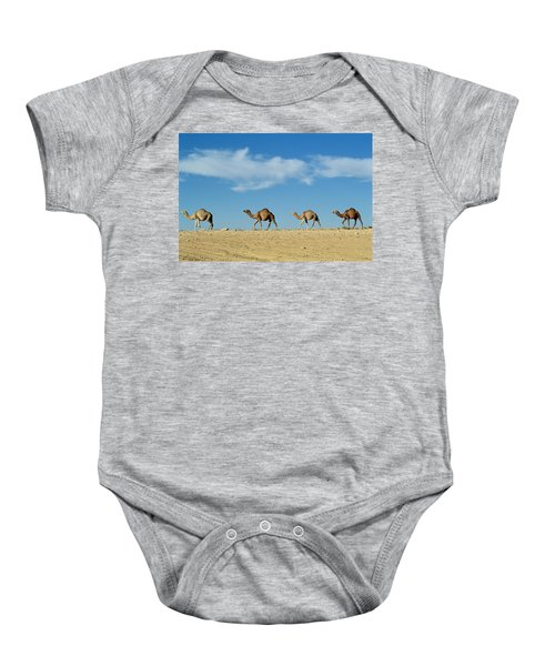 Camel Train Baby Onesie