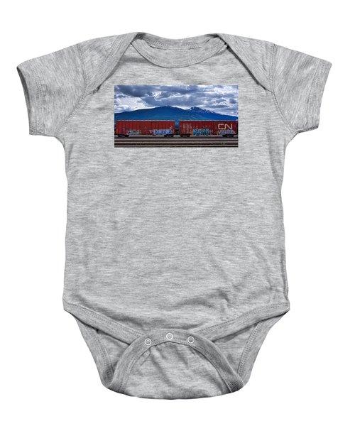 Canadian Freight Train In Jasper Baby Onesie
