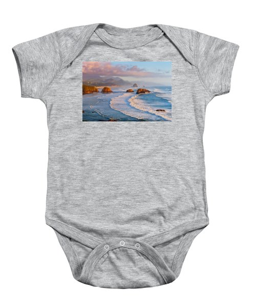 Cannon Beach Sunset Baby Onesie