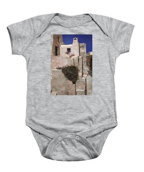 case a Santorini Baby Onesie