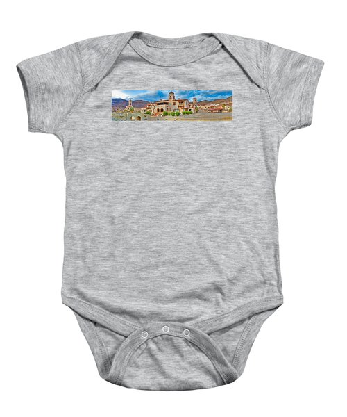 Castle In A Desert, Scottys Castle Baby Onesie by Panoramic Images
