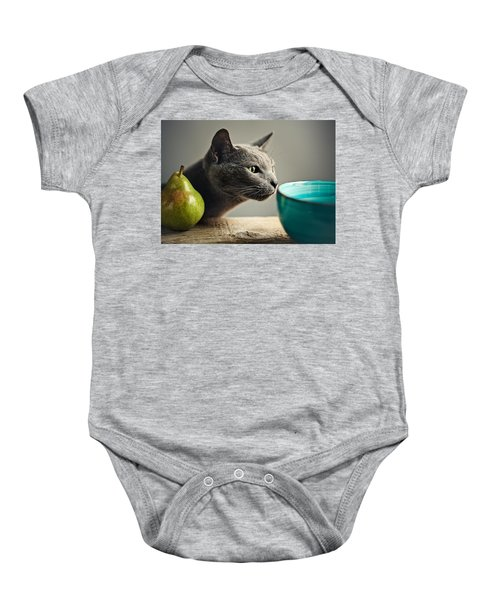 Cat And Pears Baby Onesie