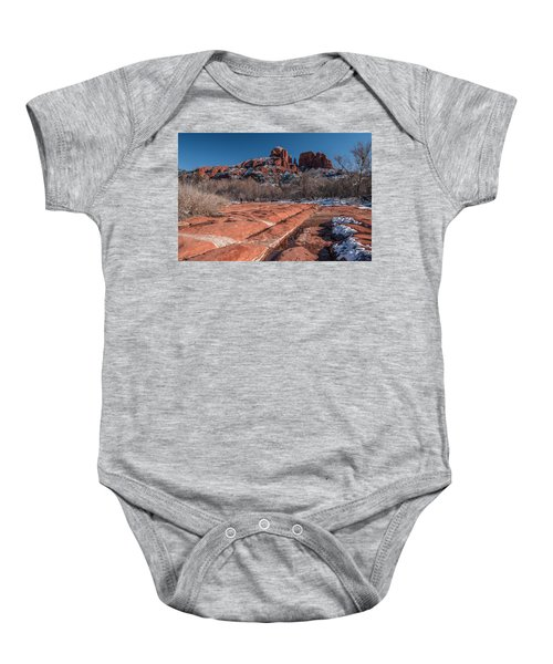 Cathedral Rock Winter Baby Onesie