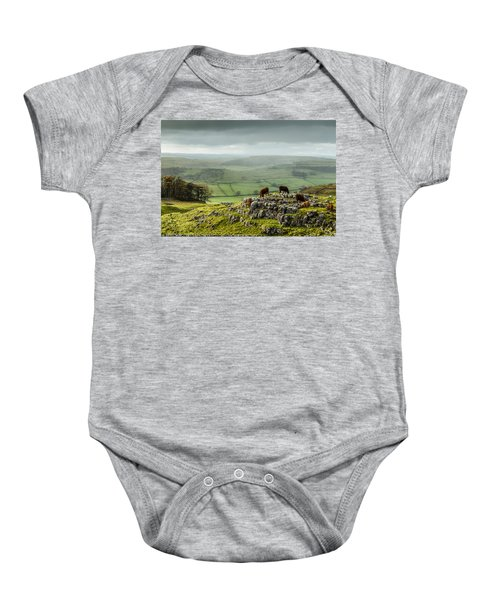 Cattle In The Yorkshire Dales Baby Onesie