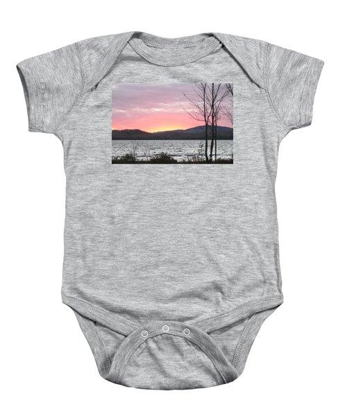 Caucomgomoc Lake Sunset In Maine Baby Onesie