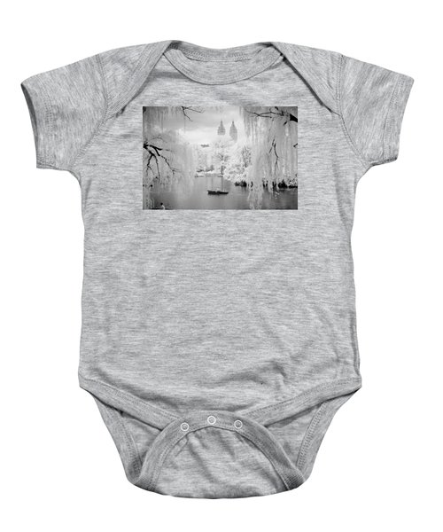Central Park Lake-infrared Willows Baby Onesie