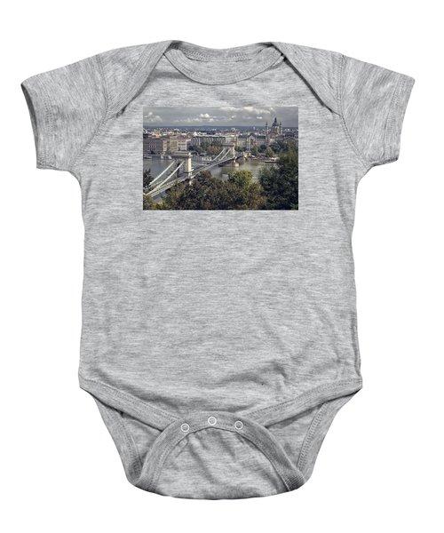 Chain Bridge Gresham Palace And Basilica Baby Onesie