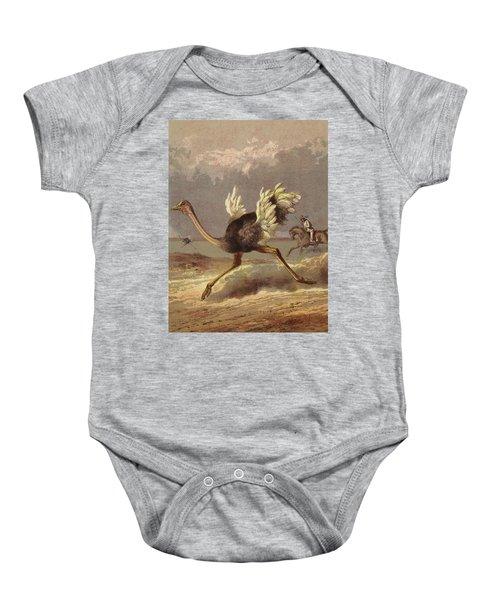 Chasing The Ostrich Baby Onesie