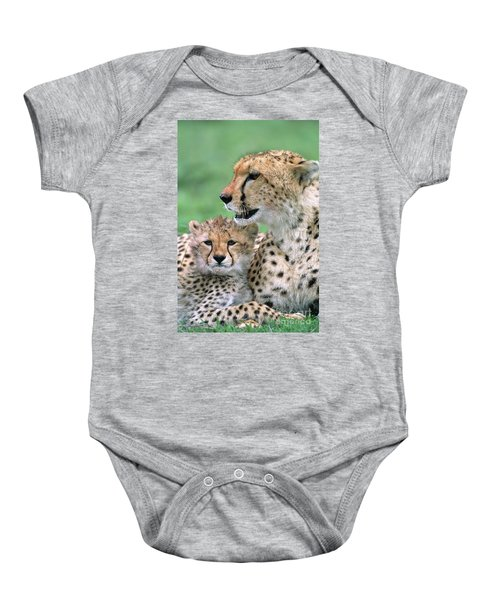 Cheetah Mother And Cub Baby Onesie
