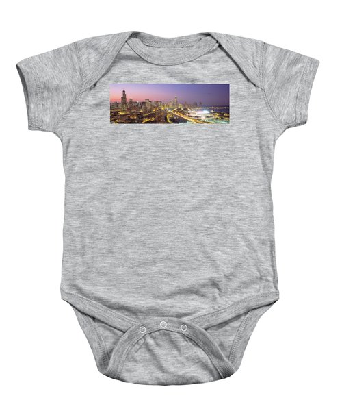 Chicago, Illinois, Usa Baby Onesie by Panoramic Images