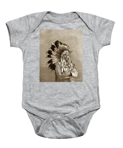 Chief Red Eagle Carmel California Circa 1940 Baby Onesie