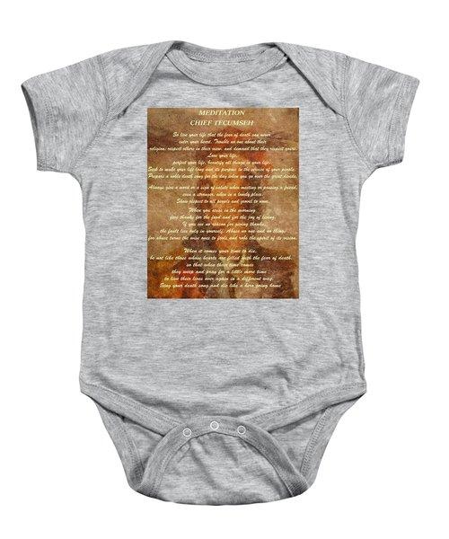 Chief Tecumseh Poem Baby Onesie