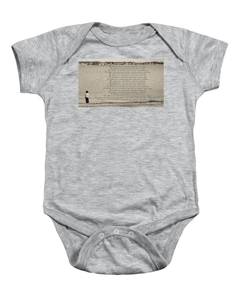 Children Learn What They Live 2 Baby Onesie