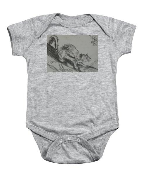 Chipmunk On The Prowl Baby Onesie