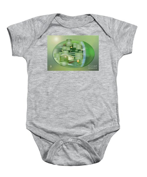 Chloroplast - Basis Of Life - Plant Cell Biology - Chloroplasts Anatomy - Chloroplasts Structure Baby Onesie