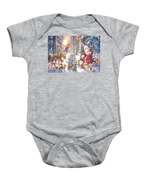Christmas In The Forest Baby Onesie