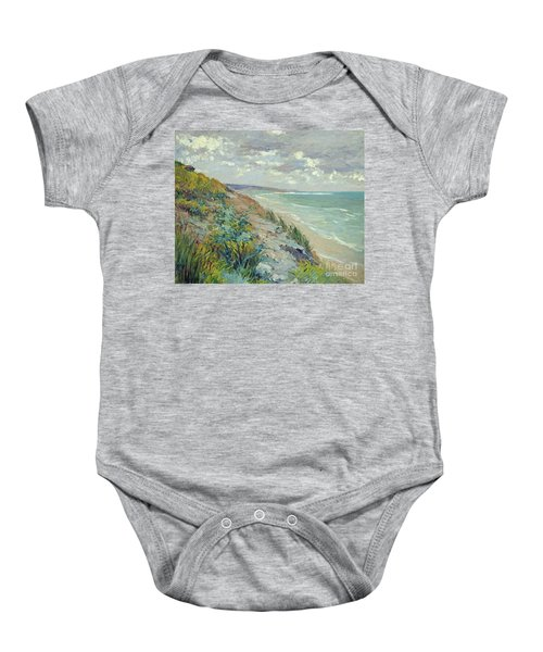 Cliffs By The Sea At Trouville  Baby Onesie
