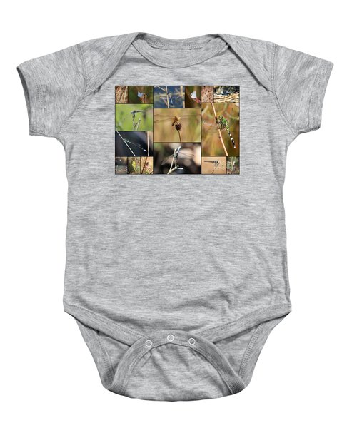 Collage Marsh Life Baby Onesie by Carol Groenen