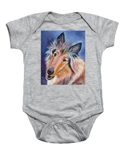Collie Star Baby Onesie
