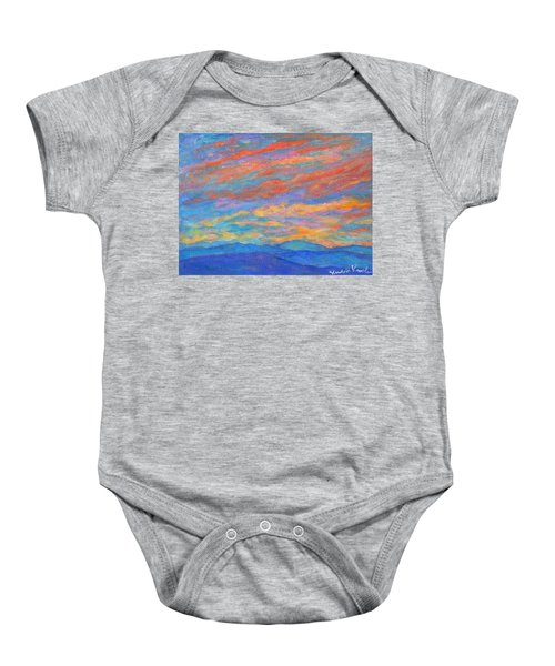 Baby Onesie featuring the painting Color Ripples Over The Blue Ridge by Kendall Kessler
