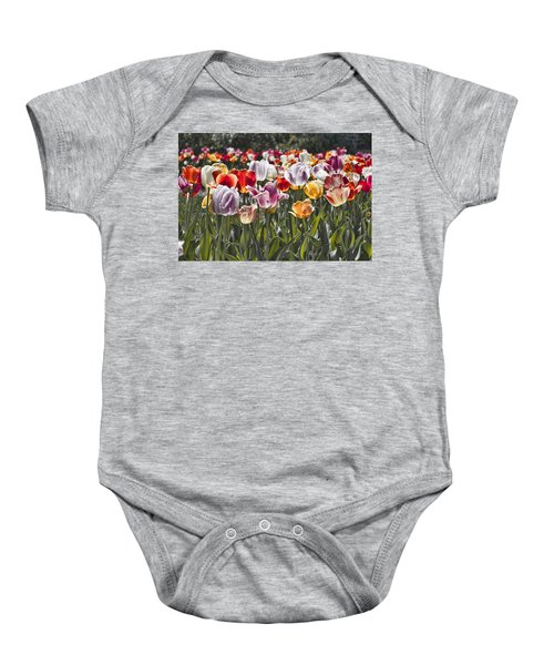 Colorful Tulips In The Sun Baby Onesie