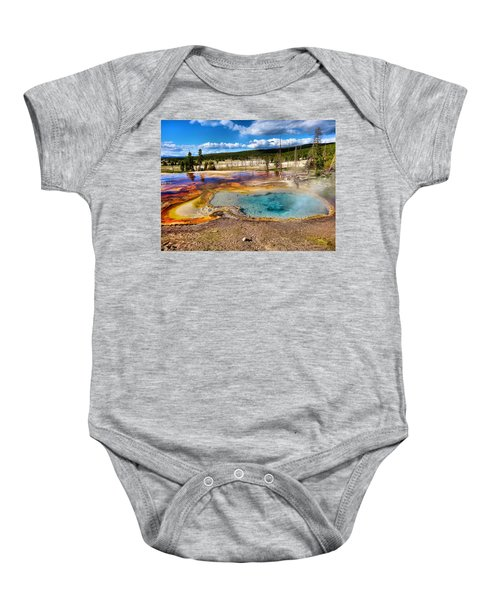 Colors Of Yellowstone National Park Baby Onesie