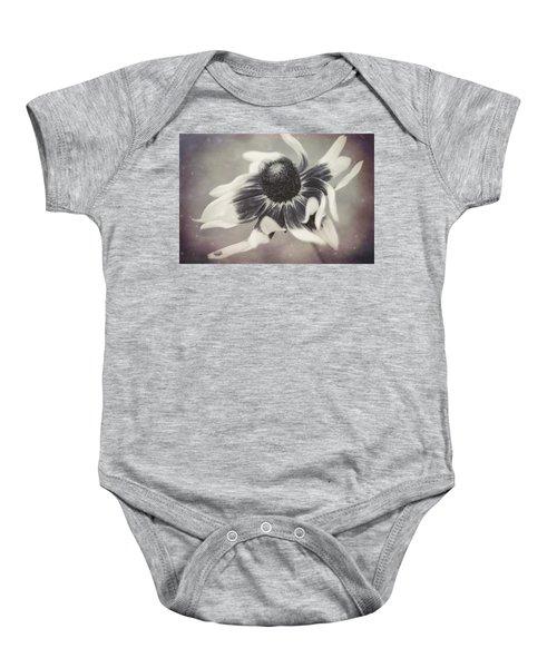 Coneflower In Monochrome Baby Onesie