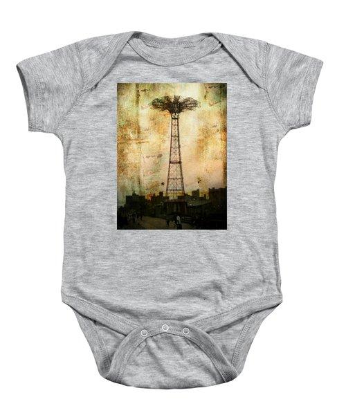 Coney Island Eiffel Tower Baby Onesie