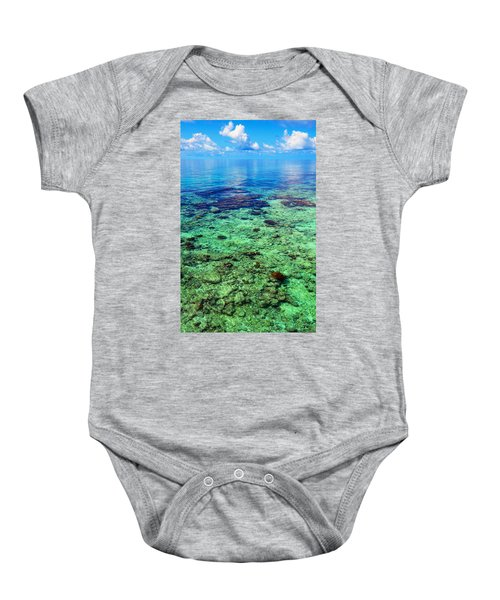 Coral Reef Near The Island At Peaceful Day. Maldives Baby Onesie