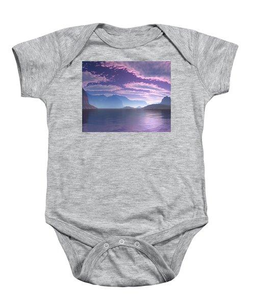 Crescent Bay Alien Landscape Baby Onesie
