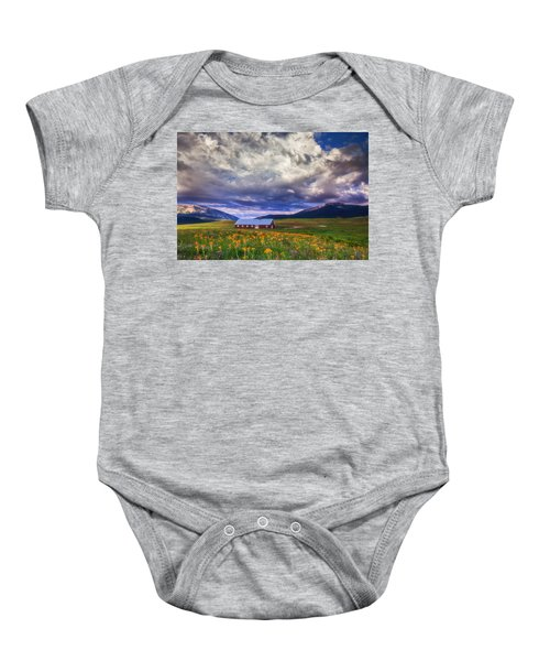 Crested Butte Morning Storm Baby Onesie