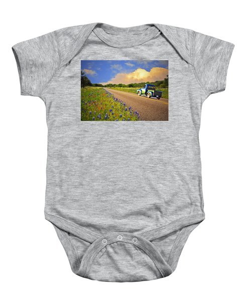Crusin' The Hill Country In Spring Baby Onesie