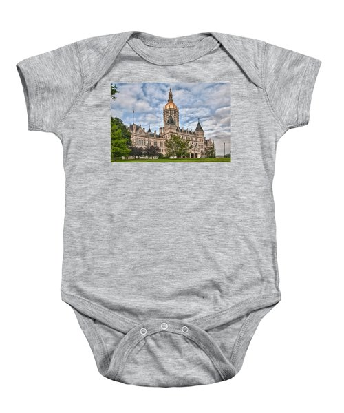 Ct State Capitol Building Baby Onesie
