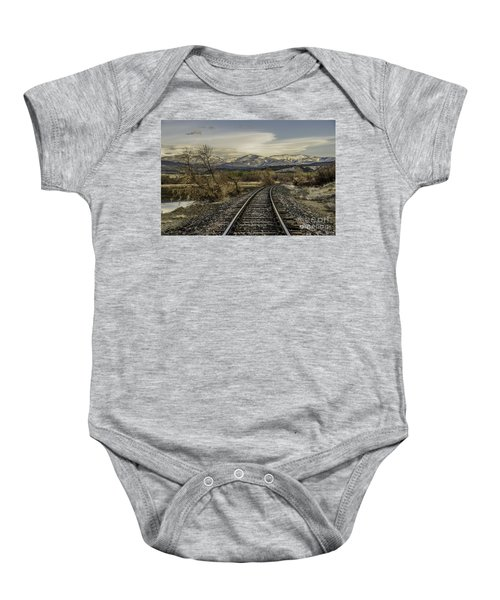 Curve In The Tracks Baby Onesie