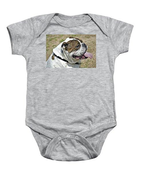 Cute Bulldog Baby Onesie