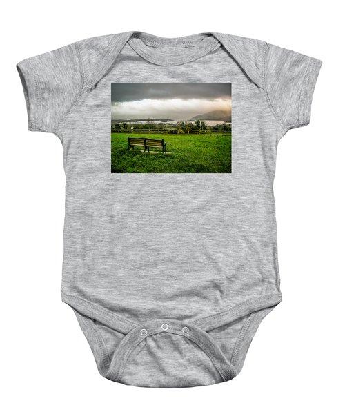 Dark Clouds Over Killarney Lakes Baby Onesie