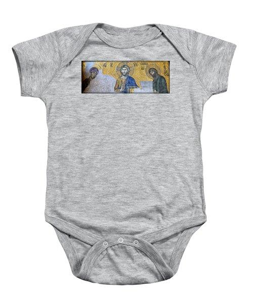 Deesis Mosaic -- Hagia Sophia Baby Onesie
