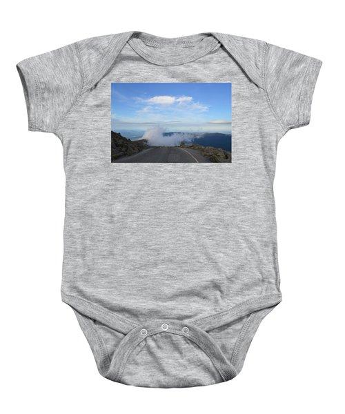 Descending Into The Clouds Baby Onesie