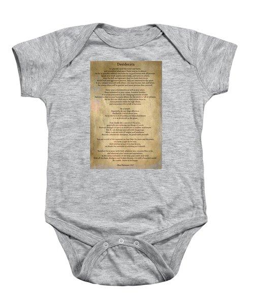 Desiderata - Scrubbed Metal Baby Onesie