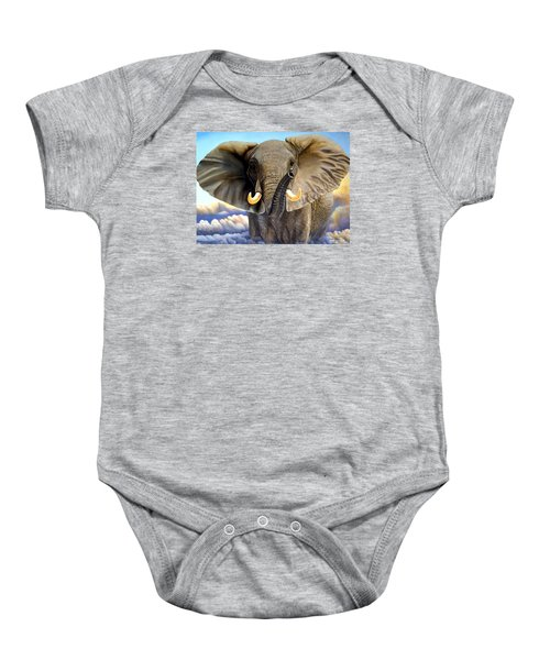 Da108 Distant Thunder By Daniel Adams Baby Onesie