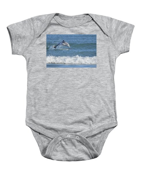 Dolphin In Surf Baby Onesie