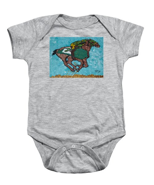 Down The Stretch Baby Onesie
