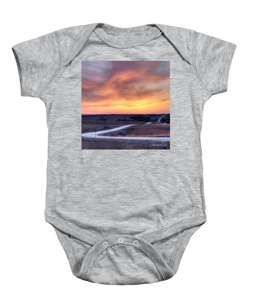 Down To The Rolling Hills Baby Onesie