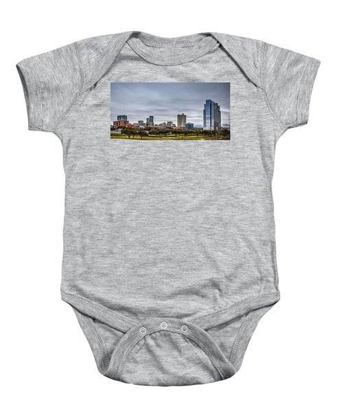 Downtown Fort Worth Trinity Trail Baby Onesie