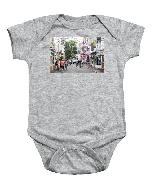 Downtown Scene In Provincetown On Cape Cod In Massachusetts Baby Onesie