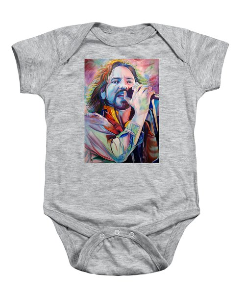 Eddie Vedder In Pink And Blue Baby Onesie by Joshua Morton